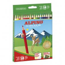 Lápices de colores Alpino 18 unidades