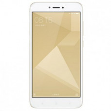 "Smartphone Xiaomi Redmi 4X Gold, 5"", 32 Gb Rom, 3 Gb Ram, Octa Core, 4G, Huella"